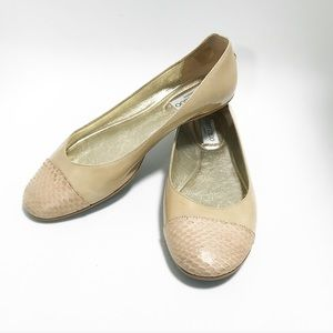 Jimmy Choo. Slipons. Nude tan. Size 8.5
